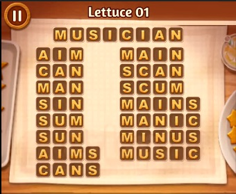Word Cookies Lettuce Level 01 Answers Word Cookies Answers