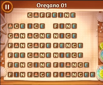 Word Cookies Oregano Level 01 Answers Word Cookies Answers