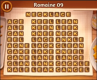 <b>Word Cookies</b> Romaine Level 09 <b>Answers</b> | <b>Word Cookies Answers</b>