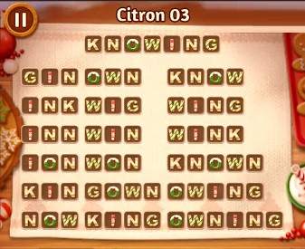 Word Cookies Citron Level 03 Answers   Word Cookies Answers
